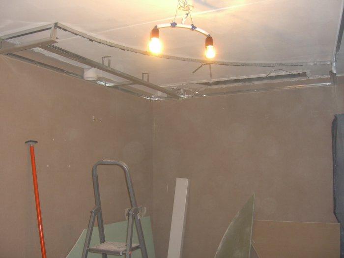 Потолок из гипрока своими руками
